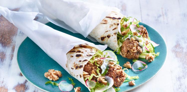 Walnut Falafel with Tzatziki
