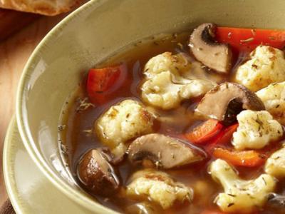 Roasted Cauliflower Mushroom soup