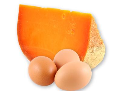 Gouda Cheese and Three eggs