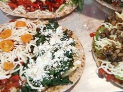 Mediterranean Pita Pizza