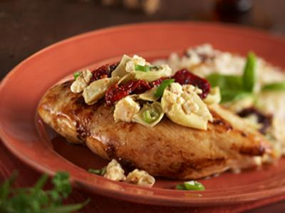 Mediterranean Chicken with Artichokes & Sun-Dried Tomatoes