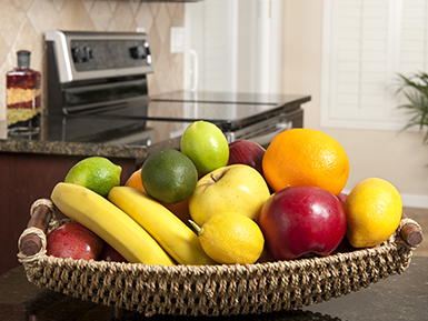 Bowl of Fruit in Kitchen