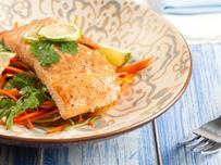 Salmon with Vegetable Slaw