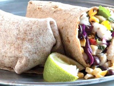 Tilapia Wrap with Corn Salsa