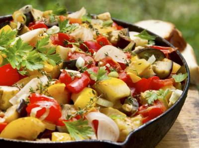 Vegetables in Skillet