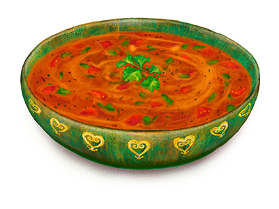 African Peanut Soup Illustration