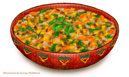 South American Vegetable Rice Soup